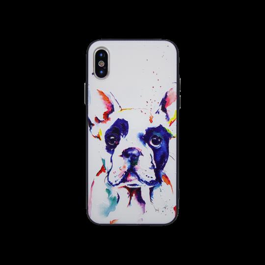Apple iPhone X - Gumiran ovitek (TPUP) - Dog