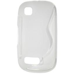 Nokia Asha 200 - Gumiran ovitek (TPU) - belo-prosojen SLine