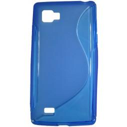 LG Optimus 4X HD - Gumiran ovitek (TPU) - modro-prosojen SLine