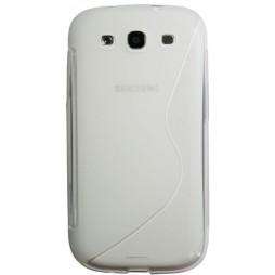Samsung Galaxy S3 - Gumiran ovitek (TPU) - belo-prosojen SLine