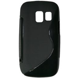 Nokia Asha 302 - Gumiran ovitek (TPU) - črn SLine