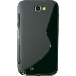 Samsung Galaxy Note 2 - Gumiran ovitek (TPU) - črn SLine