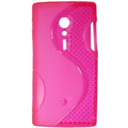 Sony Xperia ION - Gumiran ovitek (TPU) - roza-prosojen SLine
