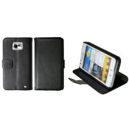 Samsung Galaxy S II - Preklopna torbica (WL) - črna