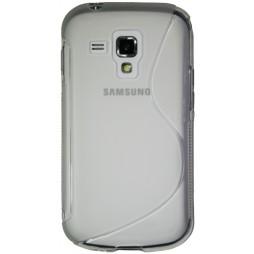 Samsung Galaxy Trend/S Duos - Gumiran ovitek (TPU) - belo-prosojen SLine