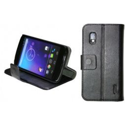 LG Nexus 4 - Preklopna torbica (WL) - črna