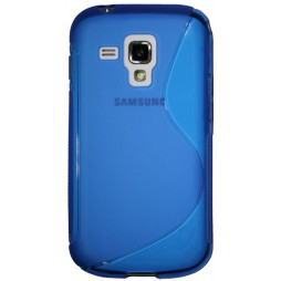 Samsung Galaxy Trend/S Duos - Gumiran ovitek (TPU) - modro-prosojen SLine
