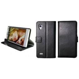 LG Optimus L9 - Preklopna torbica (WL) - črna