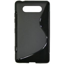 Nokia Lumia 820 - Gumiran ovitek (TPU) - črn SLine