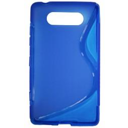 Nokia Lumia 820 - Gumiran ovitek (TPU) - modro-prosojen SLine