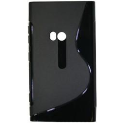 Nokia Lumia 920 - Gumiran ovitek (TPU) - črn SLine