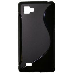 LG Optimus 4X HD - Gumiran ovitek (TPU) - črn SLine
