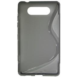 Nokia Lumia 820 - Gumiran ovitek (TPU) - sivo-prosojen SLine
