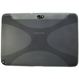 Samsung Galaxy Note 10.1 (N8000) - Gumiran ovitek (TPU) - belo-prosojen XLine