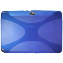 Samsung Galaxy Note 10.1 (N8000) - Gumiran ovitek (TPU) - modro-prosojen XLine