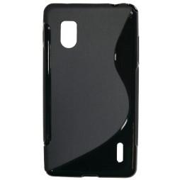 LG Optimus G - Gumiran ovitek (TPU) - črn SLine