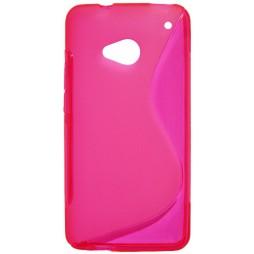 HTC One - Gumiran ovitek (TPU) - roza-prosojen Sline