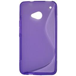 HTC One - Gumiran ovitek (TPU) - vijolično-prosojen SLine
