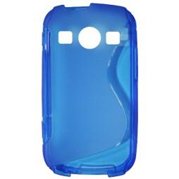 Samsung Galaxy Xcover 2 - Gumiran ovitek (TPU) - modro-prosojen SLine