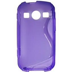 Samsung Galaxy Xcover 2 - Gumiran ovitek (TPU) - vijolično-prosojen SLine