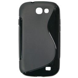 Samsung Galaxy Express - Gumiran ovitek (TPU) - črn SLine