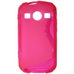 Samsung Galaxy Xcover 2 - Gumiran ovitek (TPU) - roza-prosojen SLine
