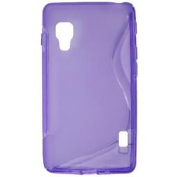 LG Optimus L5 II - Gumiran ovitek (TPU) - vijolično-prosojen SLine