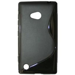 Nokia Lumia 720 - Gumiran ovitek (TPU) - črn SLine