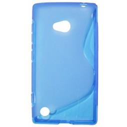 Nokia Lumia 720 - Gumiran ovitek (TPU) - modro-prosojen SLine