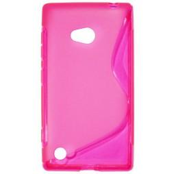 Nokia Lumia 720 - Gumiran ovitek (TPU) - roza-prosojen SLine