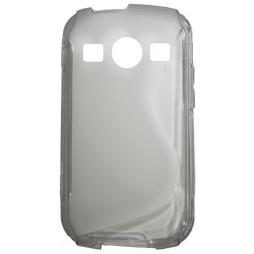 Samsung Galaxy Xcover 2 - Gumiran ovitek (TPU) - sivo-prosojen SLine