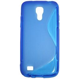 Samsung Galaxy S4 Mini - Gumiran ovitek (TPU) - modro-prosojen SLine