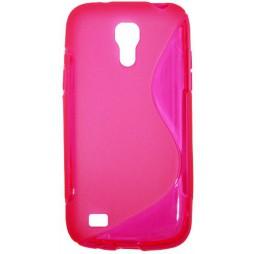 Samsung Galaxy S4 Mini - Gumiran ovitek (TPU) - roza-prosojen SLine