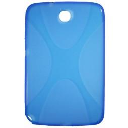 Samsung Galaxy Note 8.0 (N5100) - Gumiran ovitek (TPU) - modro-prosojen SLine