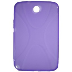 Samsung Galaxy Note 8.0 (N5100) - Gumiran ovitek (TPU) - vijolično-prosojen SLine