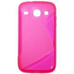 Samsung Galaxy Core - Gumiran ovitek (TPU) - roza-prosojen SLine