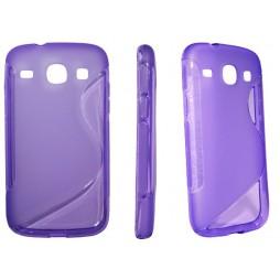 Samsung Galaxy Core - Gumiran ovitek (TPU) - vijolično-prosojen SLine