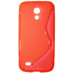 Samsung Galaxy S4 Mini - Gumiran ovitek (TPU) - oranžno-prosojen SLine
