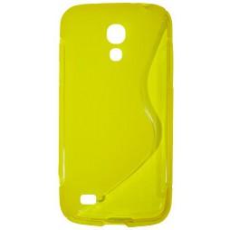 Samsung Galaxy S4 Mini - Gumiran ovitek (TPU) - rumeno-prosojen SLine