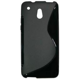 HTC One mini - Gumiran ovitek (TPU) - črn SLine