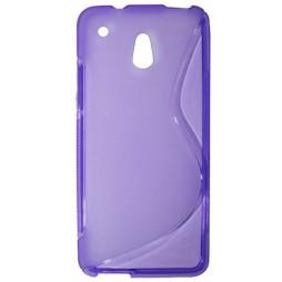 HTC One mini - Gumiran ovitek (TPU) - vijolično-prosojen SLine