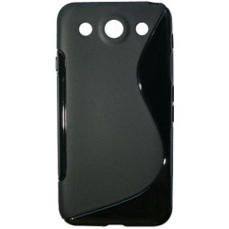 LG Optimus G Pro - Gumiran ovitek (TPU) - črn SLine