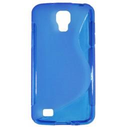 Samsung Galaxy S4 Active - Gumiran ovitek (TPU) - modro-prosojen SLine