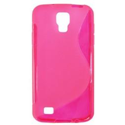 Samsung Galaxy S4 Active - Gumiran ovitek (TPU) - roza-prosojen SLine