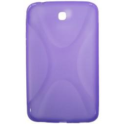 Samsung Galaxy Tab 3 7.0 (P3200) - Gumiran ovitek (TPU) - vijolično-prosojen XLine