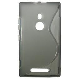 Nokia Lumia 925 - Gumiran ovitek (TPU) - sivo-prosojen SLine