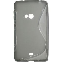 Nokia Lumia 625 - Gumiran ovitek (TPU) - sivo-prosojen SLine