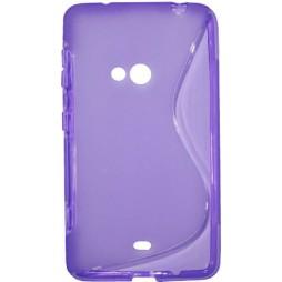 Nokia Lumia 625 - Gumiran ovitek (TPU) - vijolično-prosojen SLine