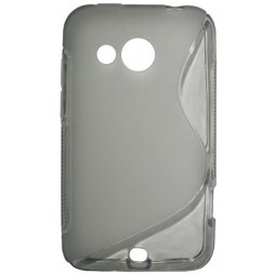 HTC Desire 200 - Gumiran ovitek (TPU) - sivo-prosojen SLine
