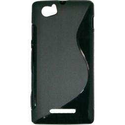 Sony Xperia M - Gumiran ovitek (TPU) - črn SLine